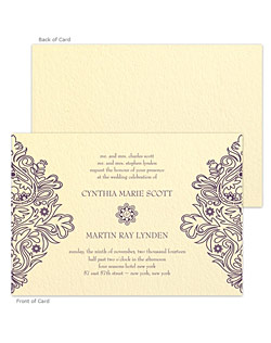 A stunning letterpress wedding stationery suite featuring a floral design on the left and right sides to frame the text and the gorgeous tactile beauty of the letterpress process.