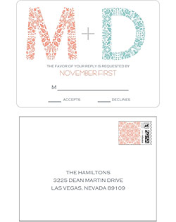 This wedding suite combines beautiful pattern with clean typography for a stunning combination.