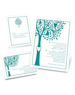 Whimsical and refreshing, show your love for each other and for the world around you with these inspiring, heart wedding invitations. Design is printed in the same ink color as your wording. Separate and send invitations come with two detachable enclosure cards (respond card and reception card) on one convenient sheet.