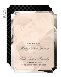 A wonderful combination of classic and modern. Set a stylish tone with bold borders and a ticket trim pattern.