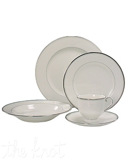 This elegant, timelss bone china pattern features delicate black and platinum banding. Perfect for upscale formal entertaining for years to come. Hand wash only.