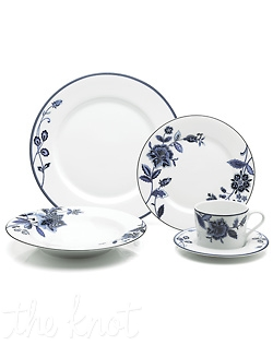 A stylish, modern twist on the classic color blue, Indigo Bloom features cool hues of blue in a sophisticated, floral design. The distinctive designs and rich colors come alive on white porcelain. This striking, versatile pattern is perfect for casual and formal entertaining alike. Dishwasher and Microwave Safe.