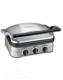"Cuisinart's® 5-in-1 Griddler® makes ""multifunctional"" an understatement! A floating cover and one set of reversible plates that snap in and out turn the Griddler® into a Contact Grill, a Panini Press, a Full Grill, a Full Griddle, or Half Grill/Half Griddle. Dual temperature controls ensure everything is perfectly cooked!"