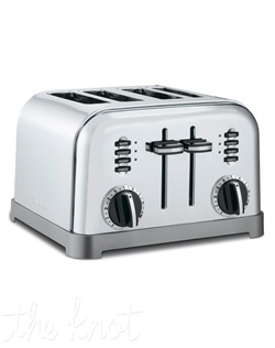 Cuisinart's Metal Classic Toaster has a smooth brushed stainless housing with polished chrome and black accents. Its custom controls let you defrost and toast bagels and bread, four at a time. The dual control panels make it two toasters in one!