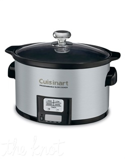 Cuisinart's® Programmable 3.5-Quart Slow Cooker perfects the art of slow cooking. It uses a precise, convenient 24-hour LCD countdown timer and four cooking modes including a Warm function when the time elapses. It's easy to make classic comfort foods–all in a convenient-sized ceramic cooking pot that fits comfortably on any countertop.