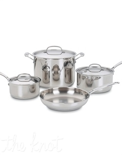 The kitchens of France were the inspiration behind the elegant Cuisinart® Chef's Classic™ Stainless Cookware Collection. Chef's Classic™ features stainless steel and pure aluminum encapsulated in the base for fast and even heating.  It's so versatile it goes from stove top to oven to broiler to freezer. We guarantee it with a lifetime warranty.