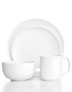 Clean slate. Whiteware Coupe dinnerware from The Cellar combines a fresh white glaze and smooth coupe shapes in durable, lightweight porcelain for unparalleled versatility.