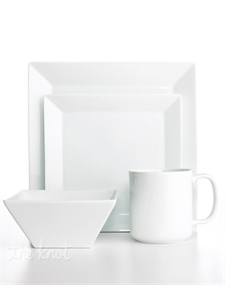 Newly updated. Whiteware Square dinnerware from The Cellar offers square plates that maintain a modern edge with new, refined silhouettes that provide the perfect canvas for any meal. White porcelain and a wide array of serveware and fashion accents offer durability and versatility for all your entertaining needs.