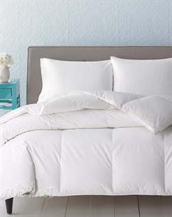 Make your daily escape in the soothing comfort and plushness of the Level 4 Vail comforters from Charter Club. Features lofty duck down fill and a 350-thread count cotton cover with a tonal stripe design. Finished with baffle box construction to prevent the fill from shifting.