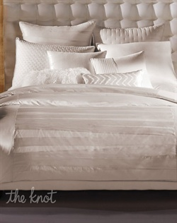 Taking inspiration from the classic bandage dress, the INC International Concepts Incline Collection gives your bed a chic and subtly textured makeover. Sateen bands zig zag across the bed for a clean, modern look. Sparkling sequin details, sophisticated pleats and quilted components complete the sleek ensemble.