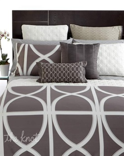 Inspired by the beauty and geometry of architectural details, Hotel Collection's Transom Charcoal bedding makes a bold, modern statement in a palette that's perfect for today's rooms. Ultimately versatile, this luxurious Pima cotton collection mixes and matches with quilted accents, decorative pillows and more for a look that's your own.