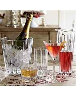 Named for the picturesque county on England's southern coast, this lead-crystal barware catches and reflects light, thanks to its hand-cut fluting. The double old-fashioned is ideal for cocktails, while the highball glasses accommodate taller libations. The single old-fashioned is useful for any drink served on the rocks.