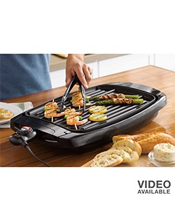 Enjoy tastier, healthier meals with this Food Network electric griddle and grill. PHOA-free nonstick coating for easy cleanup. Large cooking surface for parties and entertaining.