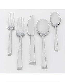 Perfect your place settings with this Food Network Chive flatware set. Simple and elegant. Stain-resistant stainless steel. Never needs polishing and is dishwasher-safe.