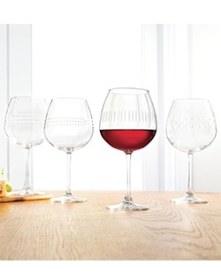 Add a lovely touch to your next soiree with these Food Network Spirits wine glasses. Quality glassware with contemporary style. Dishwasher-safe.