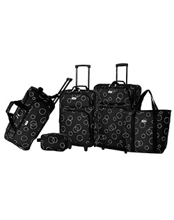 This SONOMA life + style Torrance 5-piece luggage set masters convenience.  Expandable upright gives you extra packing space. Retractable handles and wheeled design create ease.