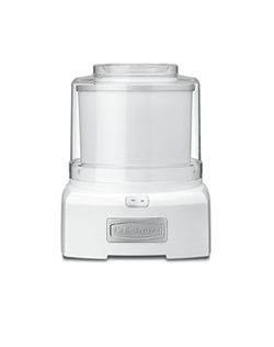 Now you can enjoy the finest homemade frozen treats – at home! The fully automatic Cuisinart® Frozen Yogurt – Ice Cream & Sorbet Maker lets you make your favorites in 20 minutes or less, with no fuss and no mess. Just add ingredients to the bowl, press ON and the machine does the rest!