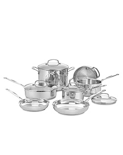 The kitchens of France were the inspiration behind the elegant Cuisinart® Chef's Classic™ Stainless Cookware Collection. Chef's Classic™ features stainless steel and pure aluminum encapsulated in the base for fast and even heating. We guarantee it with a lifetime warranty.