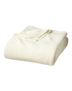 """Snuggle up with a Threshold Pearl Knit Blanket. This gorgeous bed blanket has a simply yet extraordinary design with pearl stitching and ribbed edges. The knitted blanket can be used on its own with a sheet set or as an added layer of warmth between your sheets and a comforter or duvet. Available in brown, coffee, salsa and shell. Machine wash.   Number of Pieces: 1  Weave Type: Knit type Fabric Weight: Year-Round Fabric Construction Fiber Content: 100 % Acrylic Dimensions: 90.0 """" L x 90.0 """" W  Care and Cleaning: Machine wash, gentle or delicate, Non chlorine bleach when needed, Tumble dry, normal, low heat"""