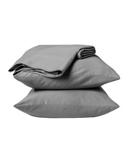 """Make your bed happy with a Threshold Organic Cotton Sheet Set. These bed linens are crisp, cool and comfortable. They're made of 100% organic cotton with a sateen weave and a thread count of 325. Soft and lustrous, they come in classic colors and prints, such as florals and checks.  The fitted sheet has full elastic for a snug fit on mattresses up to 18"""" deep. It comes with a flat sheet and 2 pillowcases. Plus, these organic cotton sheets also have built-in placement labels that help with making the bed."""