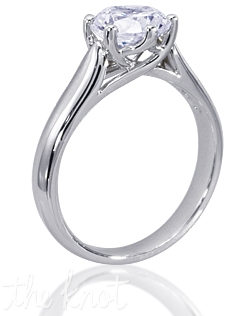 Royal Windsor 14K white gold engagement ring shown here with 1.5CT round diamond. Custom designed to fit any center round diamond.