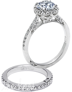 Since1910.com is an authorized retailer of Tacori and on our site you can build your own Tacori engagement ring from a selection of over 30,000 GIA certified center diamonds.  We are a 5th generation jeweler and as such you can rest assured that we will overlook every detail and step of your purchase to maximize your buying experience. Available in platinum, white gold, and yellow gold. Accommodates any center stone shape.