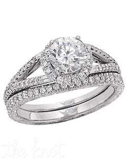 FlyerFit® Vintage Micropave Platinum Hand Engraved Engagement Ring. 72 Round Diamonds Hearts and Arrows .35 G-H VS2-Si1