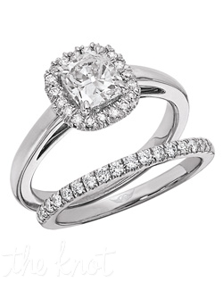 Flyerfit® Vintage Solitaire Platinum Engagement Ring. 20 Round Diamonds .14 Hearts and Arrows