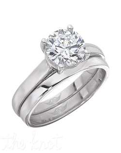 FLyerfit® Classic Solitaire Platinum Engagement ring.