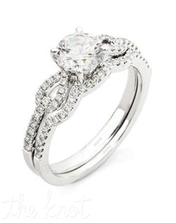 18K White Gold Set featuring .30cttw Natural round white diamonds.