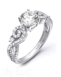 18K White Gold Semi featuring .47cttw natural round white diamonds.