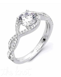 18K White Gold Semi Mount featuring .28cttw natural round white diamonds.