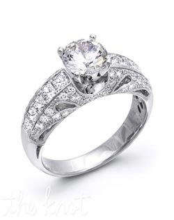 18K White Gold Semi Mount featuring .36cttw natural white diamonds and .65cttw princess cut diamonds.