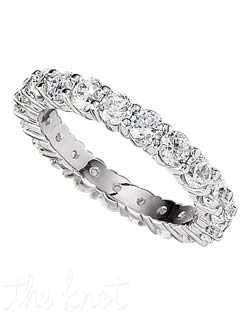 "The classics never go out of style, this ""shared prong"" eternity band ring features 2.00 cts in diamonds.  We have this style of ring in a variety of total weights, from 0.50 to 6.5ct total, and in a variety of stone numbers.  Please visit our site for more information.  100% hand crafted in the USA. Available in platinum, white gold, yellow gold, and rose gold."