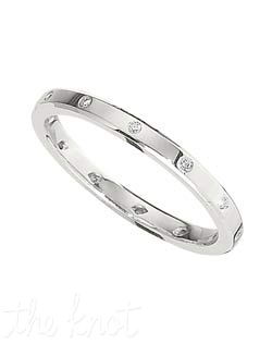 "Ladies platinum and round diamond band, from the ""Eternal Collection"".  At only 2mm wide, this delicate band can match a tremendous variety of engagement rings, or be worn alone, stacked, the possibilities to wardrobe this ring are endless.  Available in Platinum, and 18K.  100% hand crafted in the USA  R-3021 0.05 ct ttl."