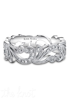Handcrafted band from the Kirk Kara Angelique collection crafted with 0.35 carats of diamonds. Available in platinum or 18K white, 18K yellow or 18K rose gold. All Kirk Kara designs are handcrafted and tailored to accommodate your customization requests.