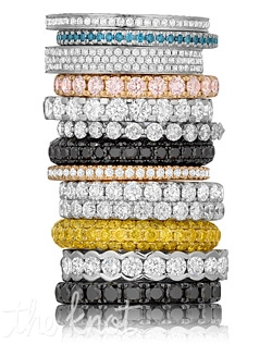 The brand new stackable diamond band collection by Henri Daussi! Featuring various styles made up of fancy yellow, pink and black diamonds, and of course white diamonds as well. Since1910.com is an authorized retailer of Henri Daussi, and on our site you can also build your own Henri Daussi engagement ring from a selection of over 30,000 GIA certified center diamonds. We are a 5th generation jeweler and as such you can rest assured that we will overlook every detail and step of your purchase to maximize your buying experience.