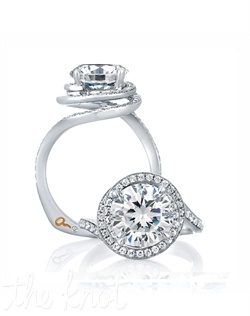 Heritage Metropolitan Collection. 0.53ctw. 18kt or platinum
