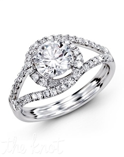 18K White Gold Engagement Ring 0.35 RD