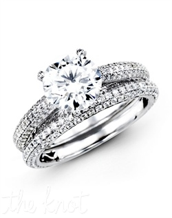 18K White Gold Wedding Set 1.26 RD