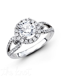 18K White Gold Engagement Ring 0.49 RD