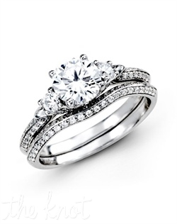 18K White Gold Wedding Set 0.55 RD