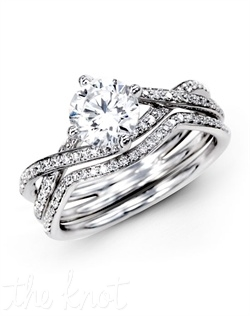 18K White Gold Wedding Set 0.22 RD