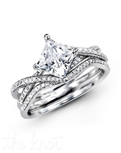 18K White Gold Wedding Set 0.23 RD