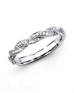 18K White Gold Band 0.24 RD