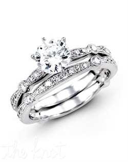 18K White Gold Wedding Set 0.59 RD