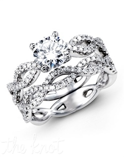 18K White Gold Wedding Set 0.65 RD