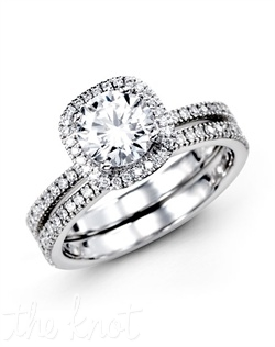 18K White Gold Wedding Set 0.46 RD