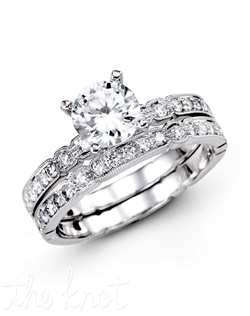 18K White Gold Wedding Set 0.39 RD