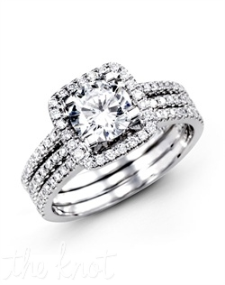 18K White Gold Wedding Set 0.50 RD